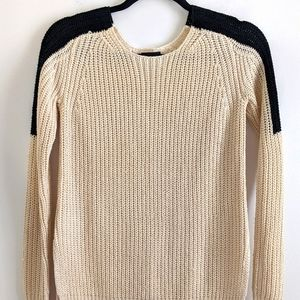 Ann Taylor Off White Chunky Knit Sweater XS
